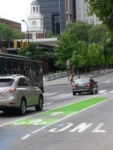 6th and Market Green Bike Lane