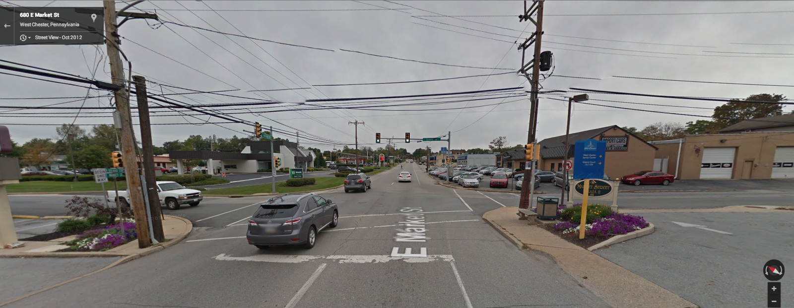 Google Street View of the crash site at East Market and Bolmar St in West Goshen Township