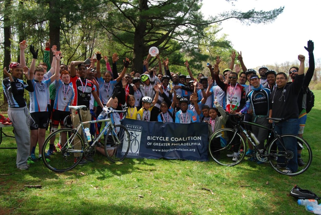Cadence Youth Cycling athletes at Spring 2015 Time Trials. (Photo credit: Ryan Breslin)