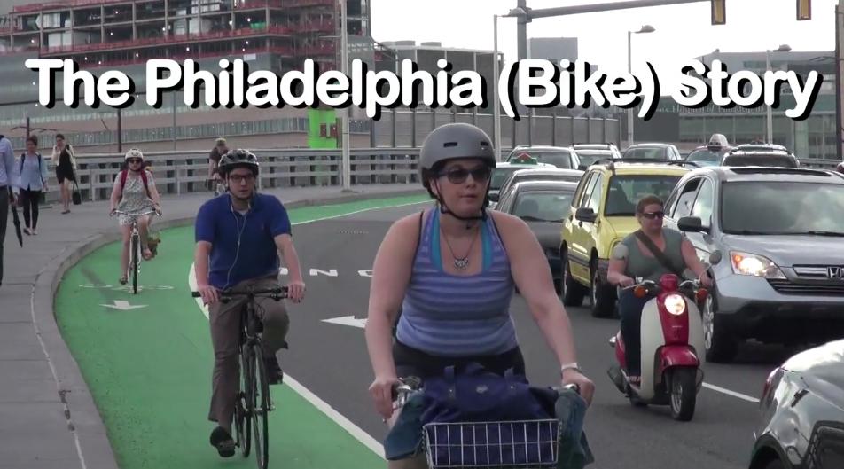 "Screenshot from Streetfilms' ""The Philadelphia (Bike) Story"""