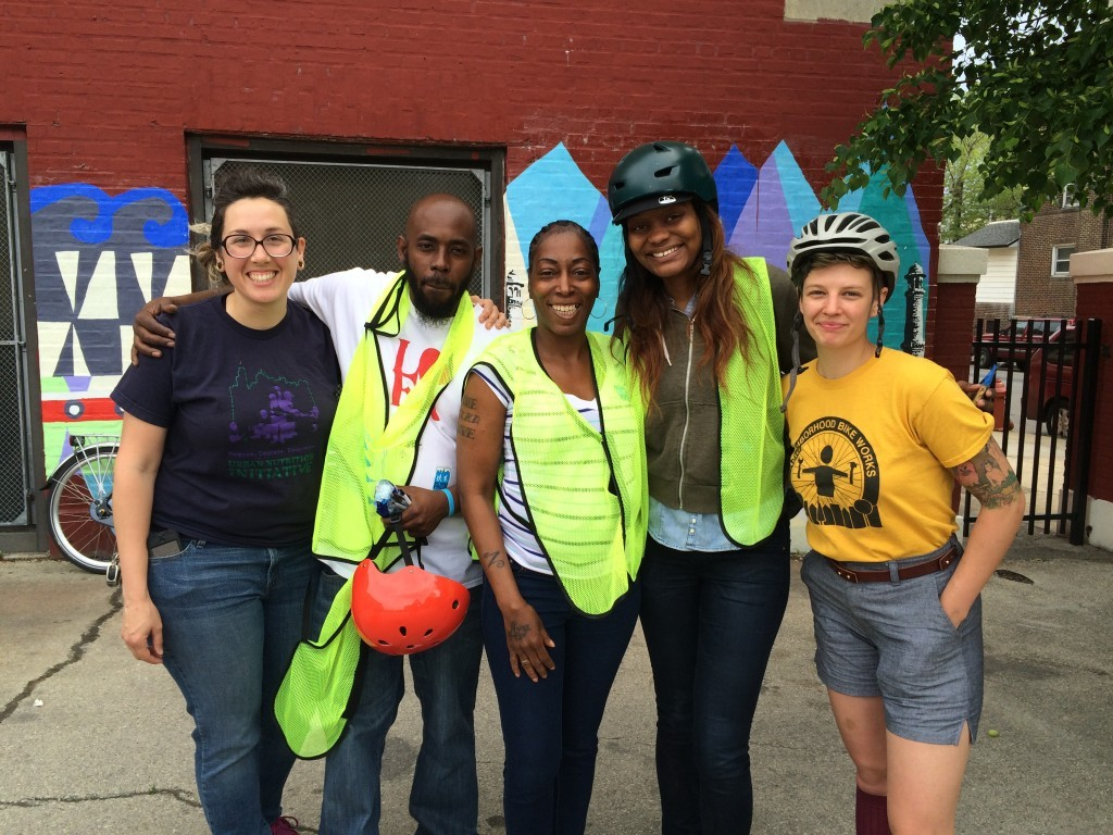 Waffiyyah Murray (second from right) works with many schools and partners to pull off successful Bike To School events