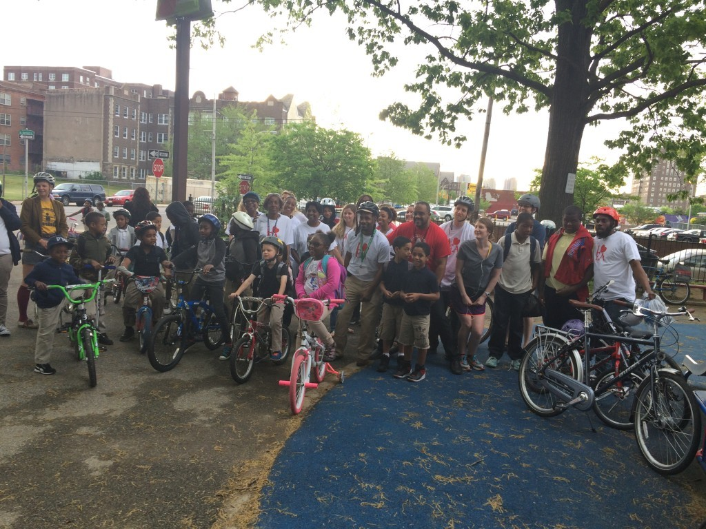 Last year's Bike To School Day at Lea Elementary School