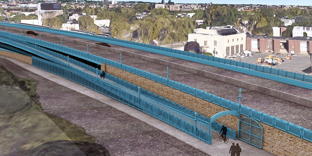 A conceptual drawing of the new ramp, which could open in the Spring of 2019.
