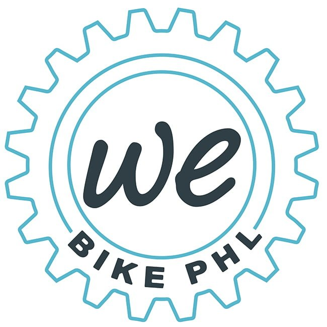 We Bike PHL Logo in the shape of a gear