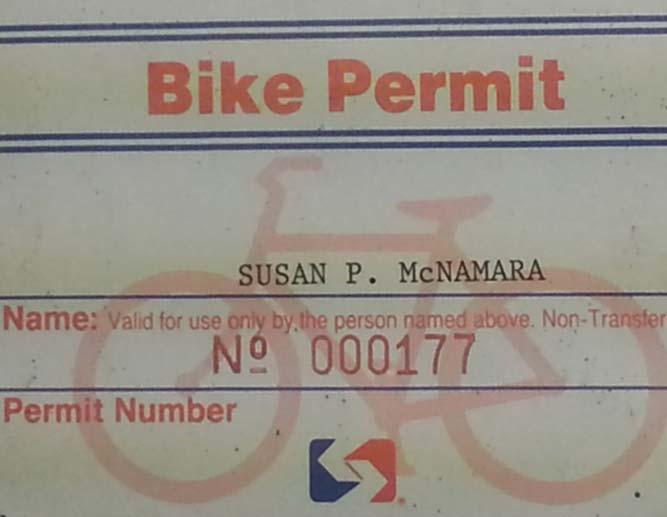 1997 SEPTA Bike Permits