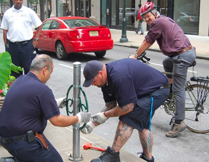 PPA transforms 1,500 parking meters into bicycle parking spots