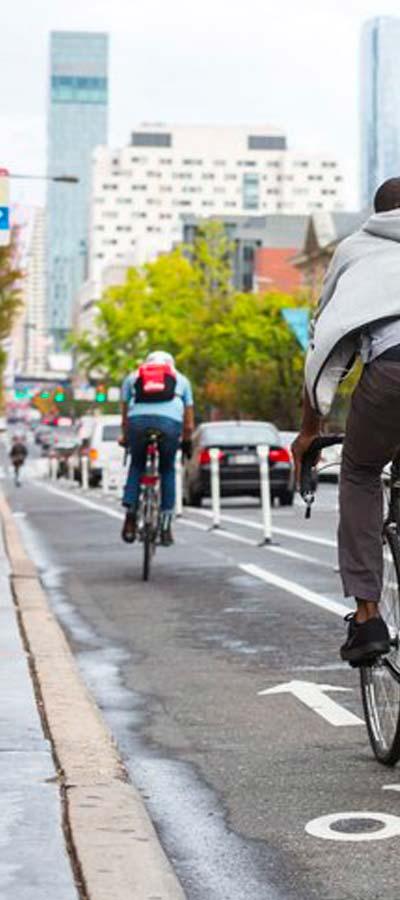 West Chestnut Street protected bike lane