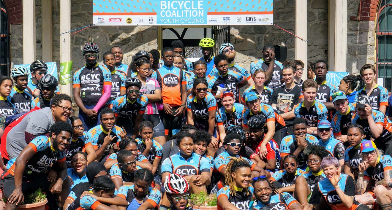 Bicycle Coalition Youth Cycling team photo