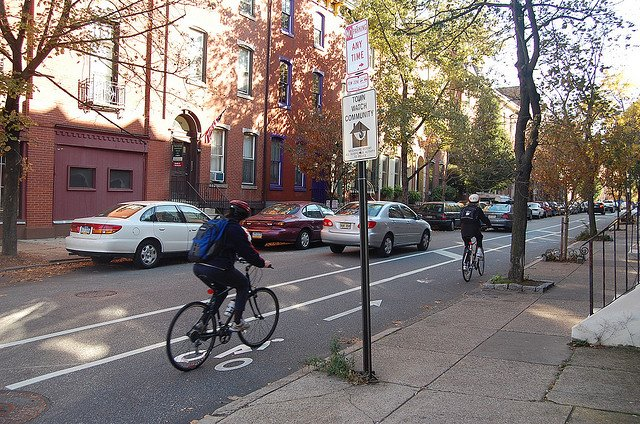 Buffered Bike lane in Philadelphia