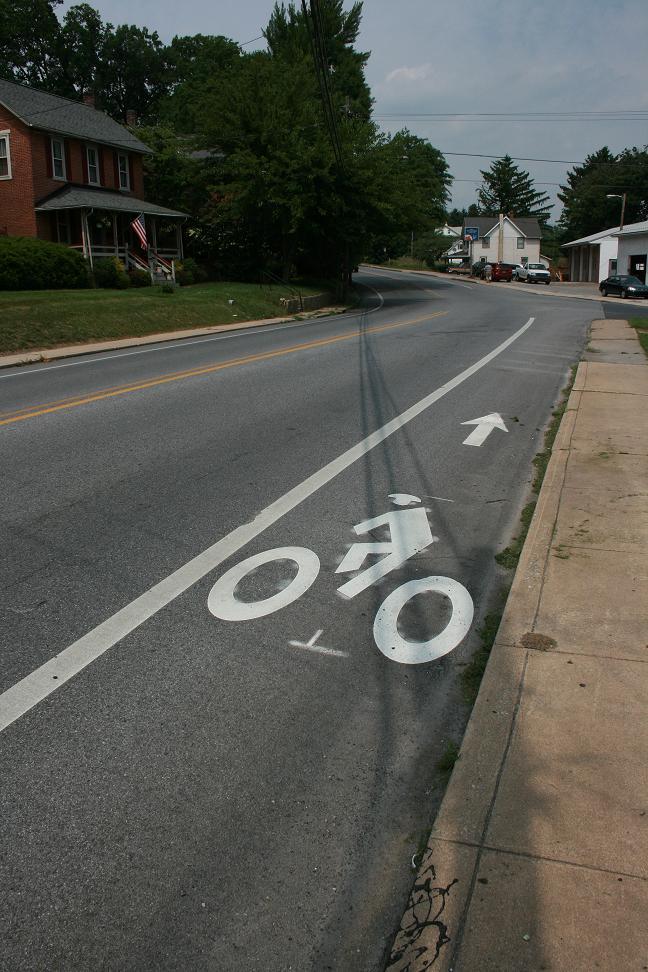Standard bike lane