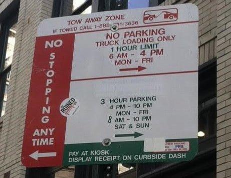 Loading Zone law in Philadelphia