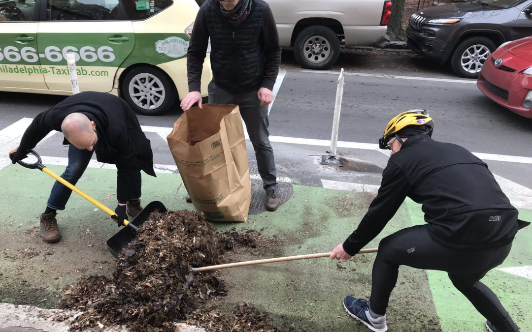 We Cleaned the Pine Street Bike Lane