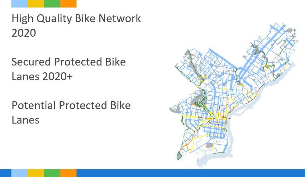 Map of the bike network in the Philadelphia region.