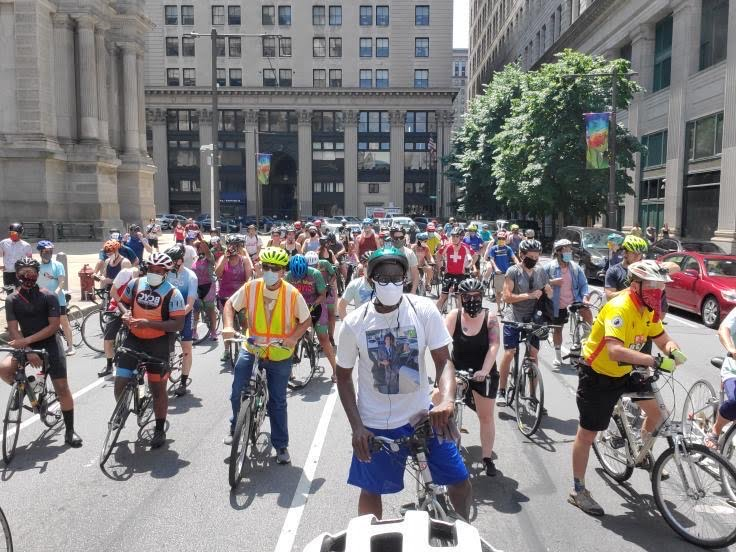 Bicycling Community Rides Together in Protest and Memorial
