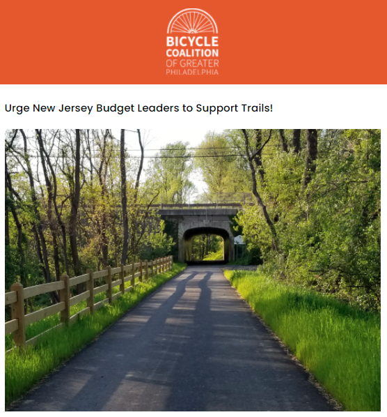 Contact your Legislator to Increase Trail Funding in New Jersey